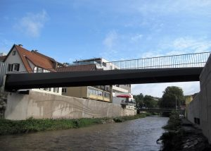 Fußgängerbrücke über die Murr in Backnang<br>Eduard – Breuninger – Steg