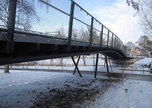 Geh- und Radwegbrücke über die Rezat in Ansbach