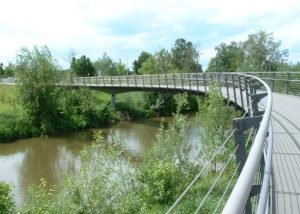 Geh- und Radwegbrücke über die Altmühl in Gunzenhausen