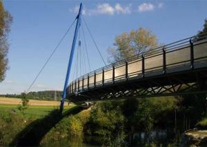 Geh- und Radwegbrücke über die Jagst bei Jagsthausen