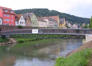 Hubbrücke über die Tauber in Wertheim