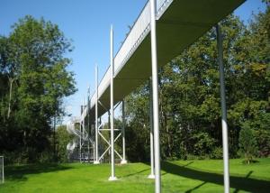 Fußgängerbrücke vom Kurpark zum Salinenpark in Bad Rappenau