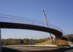 Geh- und Radwegbrücke über die L 1100 bei Ludwigsburg – Neckarweihingen
