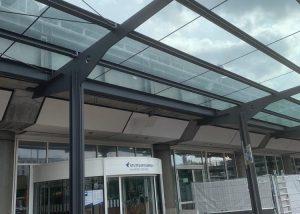 Verlängerung des bestehenden Taxivordaches am Flughafen Stuttgart Terminal 1