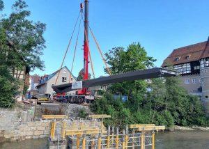 Geh- und Radwegbrücke über die Eyach in Balingen für die Gartenschau Balingen 2023
